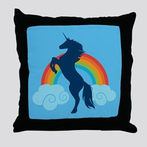 Unicorn Rainbow Fantasy Throw Pillow