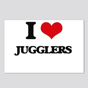 I love Jugglers Postcards (Package of 8)