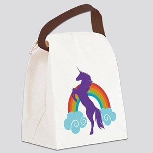 Cute Unicorn Fairy Tale Canvas Lunch Bag