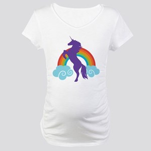 Cute Unicorn Fairy Tale Maternity T-Shirt