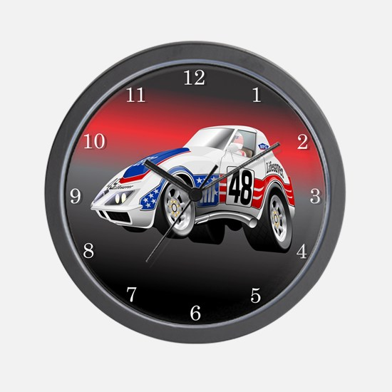 LeMans Endurance Racer 1972 Wall Clock