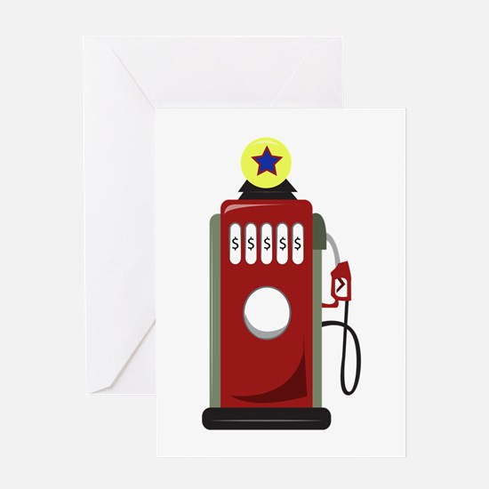 Gas Pump Greeting Cards
