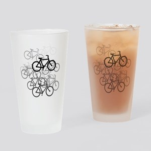 Bicycles Drinking Glass