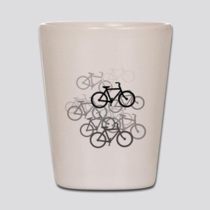 Bicycles Shot Glass