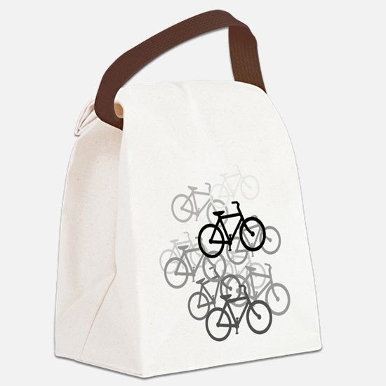 Bicycles Canvas Lunch Bag