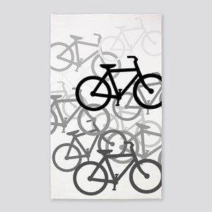 Bicycles 3'x5' Area Rug