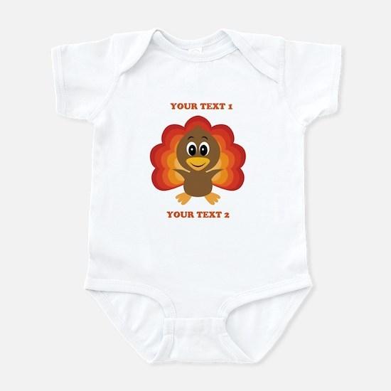 Personalized Baby Turkey Infant Bodysuit