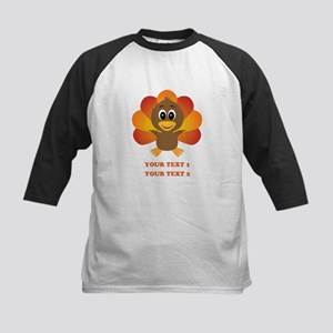 Personalized Baby Turkey Kids Baseball Jersey