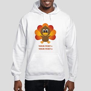Personalized Baby Turkey Hooded Sweatshirt