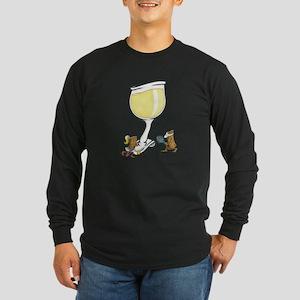 Wine Cork Tennis Long Sleeve Dark T-Shirt