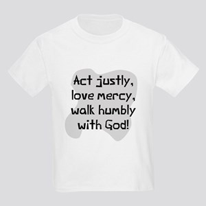 Act justly love mercy Kids Light T-Shirt
