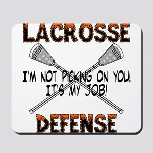 Lacrosse Defense Mousepad