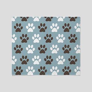 Paw Print Pattern Throw Blanket