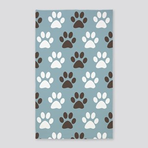 Paw Print Pattern 3'x5' Area Rug