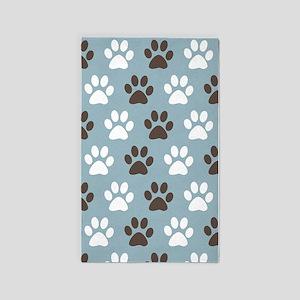 Paw Print Pattern 3 X5 Area Rug