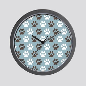Paw Print Pattern Wall Clock