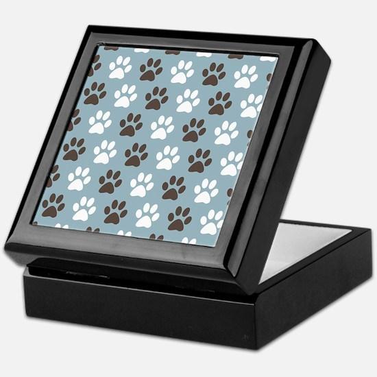 Paw Print Pattern Keepsake Box