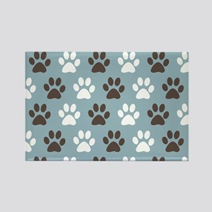 Paw Print Pattern Rectangle Magnet