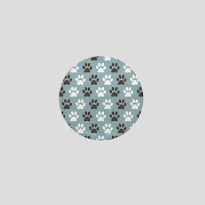Paw Print Pattern Mini Button