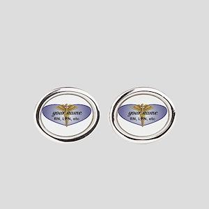 Personalized Nurse Oval Cufflinks