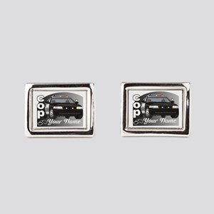 Custom Personalized Cop Rectangular Cufflinks
