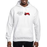 Red Christmas Tractor Hooded Sweatshirt