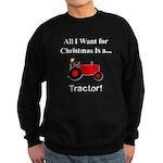 Red Christmas Tractor Sweatshirt (dark)
