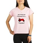 Red Christmas Tractor Performance Dry T-Shirt