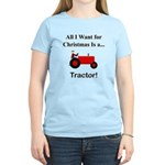 Red Christmas Tractor Women's Light T-Shirt