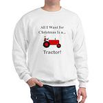 Red Christmas Tractor Sweatshirt
