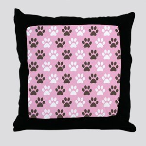 Paw Print Pattern Throw Pillow