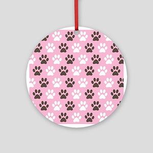 Paw Print Pattern Ornament (Round)