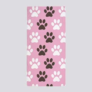 Paw Print Pattern Beach Towel