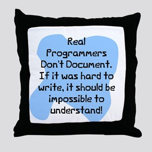 Real programmers Throw Pillow