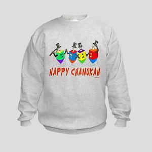 Dancing Dreidels Hanukkah Sweatshirt