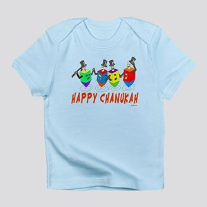 Dancing Dreidels Hanukkah Infant T-Shirt