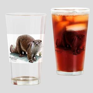 European Otter Drinking Glass