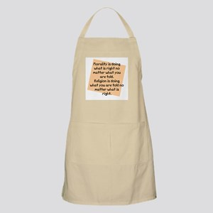 Morality is doing BBQ Apron