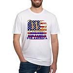 W2 President George W Bush Fitted T-Shirt