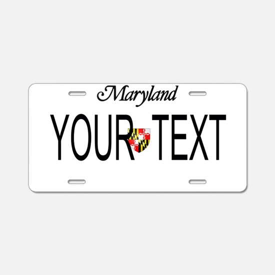 Maryland Custom Aluminum License Plate
