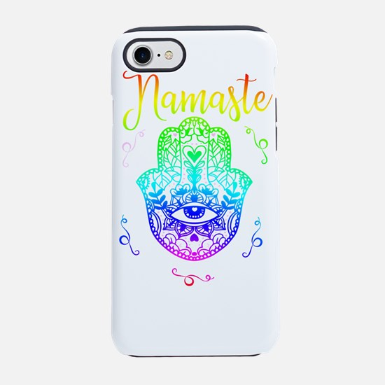Yoga Hamsa Retro iPhone 7 Tough Case