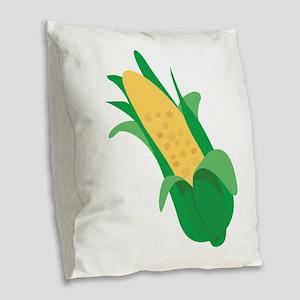 Ear Of Corn Burlap Throw Pillow
