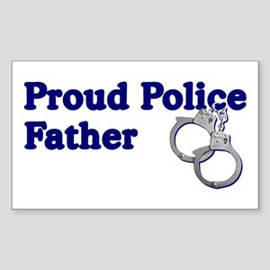 Proud Police Father Rectangle Sticker