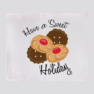 Have A Seat Holiday Throw Blanket