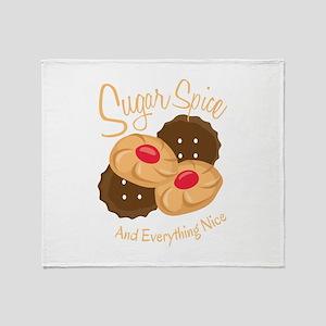 Sugar Spice Throw Blanket