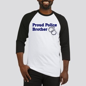 Proud Police Brother Baseball Jersey