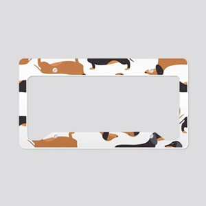 Cute Dachshunds License Plate Holder