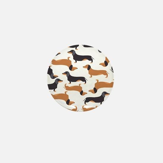Cute Dachshunds Mini Button