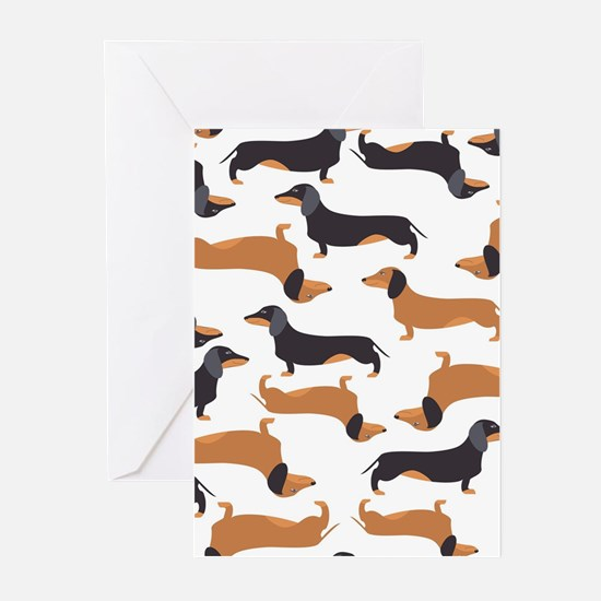 Cute Dachshunds Greeting Cards