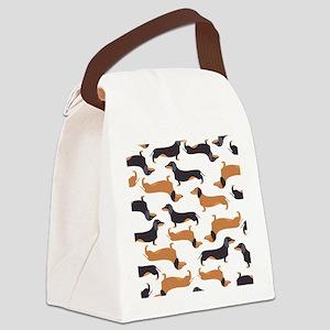 Cute Dachshunds Canvas Lunch Bag